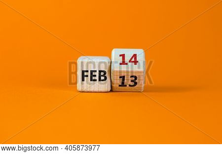 February 14 Valentines Day Symbol. Turned The Cube And Changed The Word 'feb 13' To 'feb 14'. Beauti