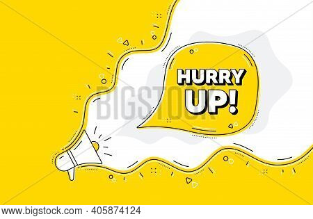 Hurry Up Sale. Loudspeaker Alert Message. Special Offer Sign. Advertising Discounts Symbol. Yellow B