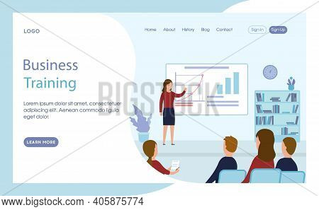 Website Or Webpage Template Layout Vector Illustration. Flat Cartoon Style Composition With Text And