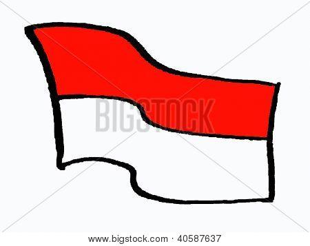 flag of Indonesia or Monaco
