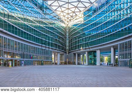 Milan, Italy - Circa September 2020: Located In Milan Downtown, The Lombardia (lombardy) Region Is O