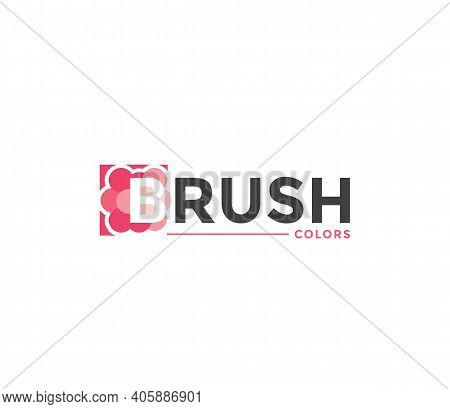 Brush Colors Company Business Modern Name Concept