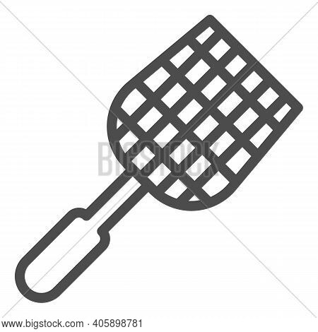 Fly Swatter Line Icon, Pest Control Concept, Flyswatter Symbol On White Background, Fly Swatter Icon