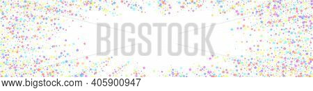 Festive Likable Confetti. Celebration Stars. Color