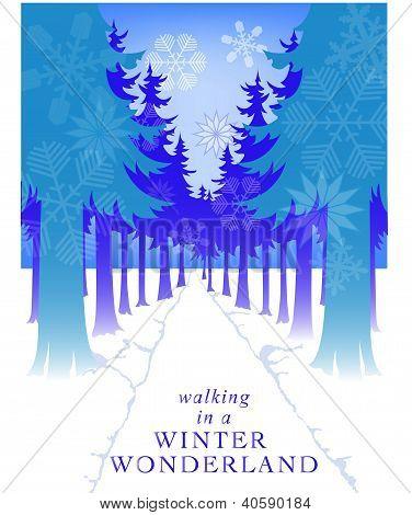 Snowflake Path Card