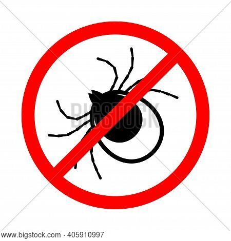 Insect Mite Tick Vector Icon. Black Vector Icon Isolated On White Background Insect Mite .