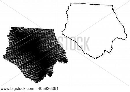 Ashe County, North Carolina State (u.s. County, United States Of America, Usa, U.s., Us) Map Vector