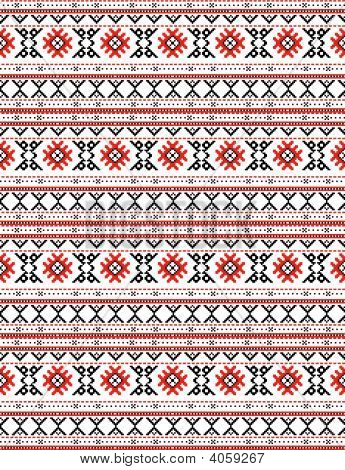 The Russian Traditional Embroidry.