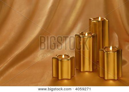 Golden Candle-Light-Hintergrund