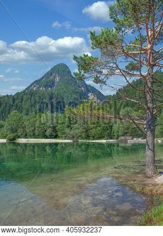 Lake Jasna In Triglav National Park Near Kranjska Gora,slovenia