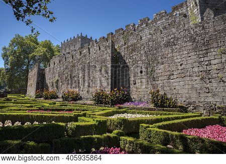 Castle Of Sotomayor, In The Province Of Pontevedra, Galicia, Spain. It Is Half Medieval Fortress, Ha
