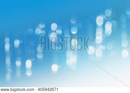 Abstract Light Blue Background,  Blurred Gradient Lights