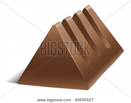 illustration of a chocolate on a white background