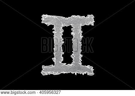 Gemini Zodiac Sign, Twins Horoscope Symbol, With Clipping Path