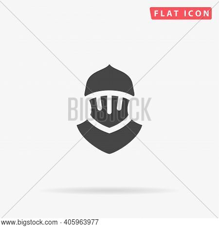 Plate Armour Flat Vector Icon. Hand Drawn Style Design Illustrations.