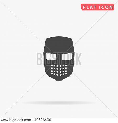 Knight Helmet Flat Vector Icon. Hand Drawn Style Design Illustrations.