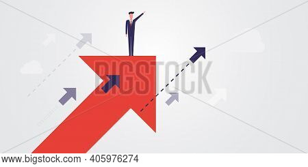 New Possibilities, Hope, Dreams - Business Achievements, Solutions Finding Concept - Man Standing On