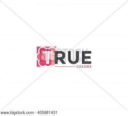 True Colors Company Business Modern Name Concept