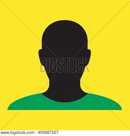 Human Head Shape Vector Icon. Person Profile Silhouette Sign. Anonymous Face User Symbol. Avatar Por
