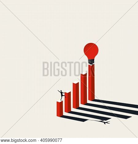 Business Creativity Vector Concept. Man Looking For Inspiration. Symbol Of New Ideas, Vision.