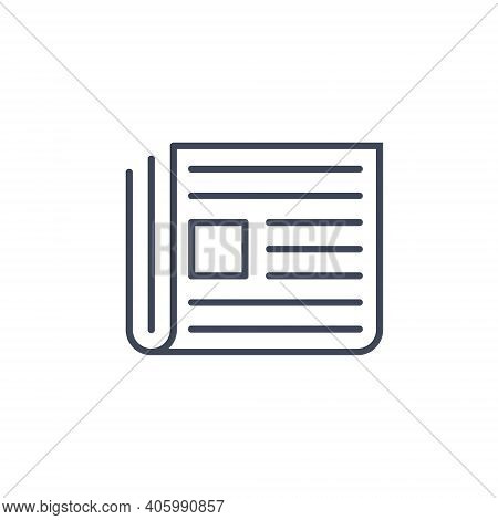 Newspaper Line News Icon. Press Article Paper Journal Line Icon