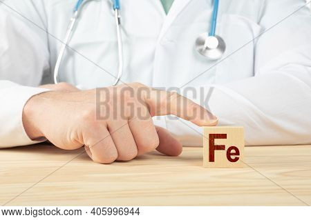 Essential Element And Minerals For Humans. Doctor Recommends Taking Fe. Doctor Talks About The Benef