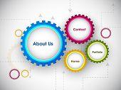 Website design draft.  EPS 10. poster
