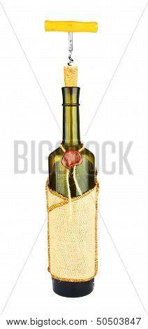 Corkscrew On A Wine Bottle
