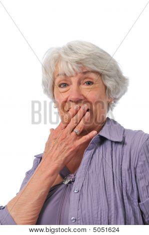 Senior Lady Showing Surprise