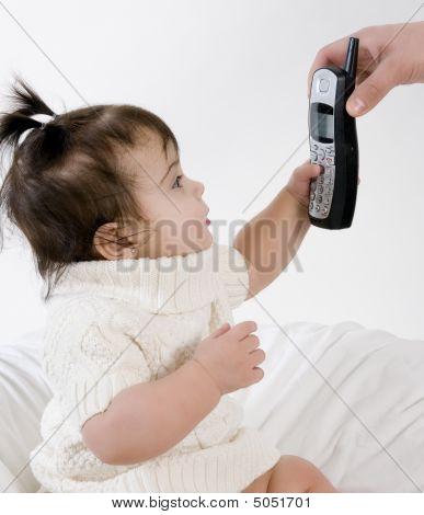 Baby Taking Phone Call