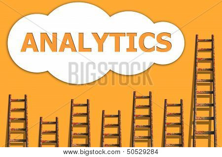 Analytics,wording About Success Of Business
