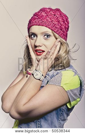 Girl In A Pink Cap