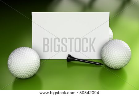 Golf Sign, Communication Over Green