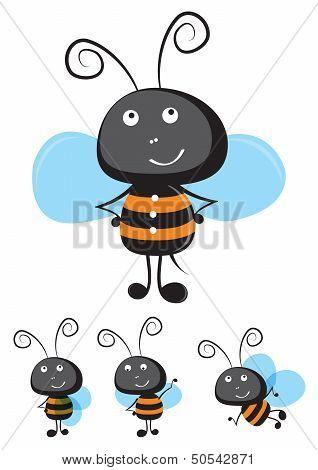 Cute cartoon bee