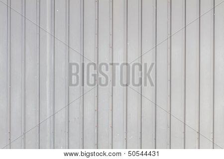 Grey Garage Door In Metal Grungy Look