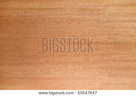 African Mahogany (Khaya senegalensis (Meliaceae),) wood texture. Wood favored for rich mid tones in guitar making. Sharp to the corners.