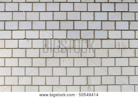 White Brick Wall On A Modern House