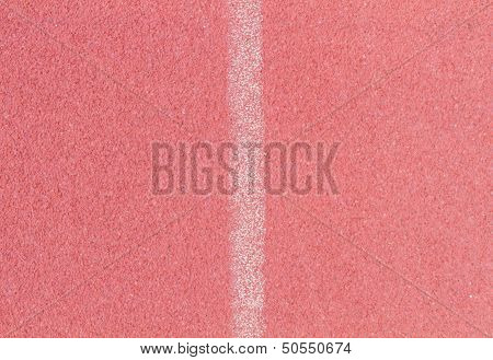 Tartan Floor On Track And Field Area White Line