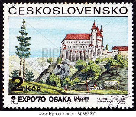 Postage Stamp Czechoslovakia 1970 View Of Orlik Castle