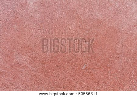 Red Stone Plate With White Grain