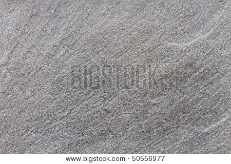 Stone Plate In Black And White With Grain