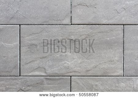 Stone Plates In Grey On A Sideway With Seams