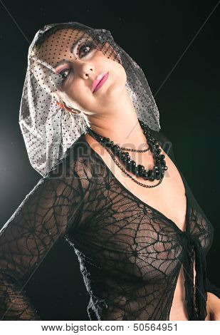 Girl In A Black Veil