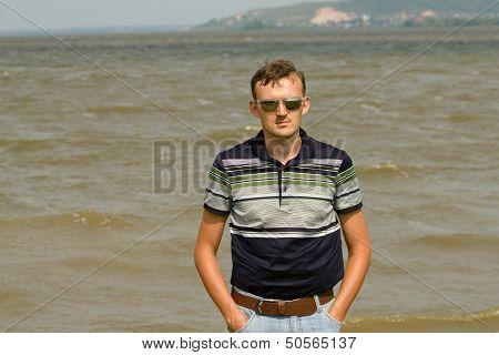 Men Against River Volga