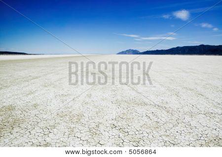 Salt Flats Of The Black Rock Desert Playa