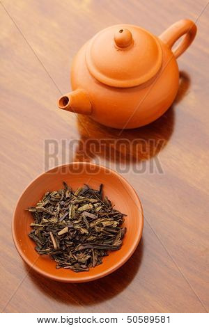 Chinese dried tea leave