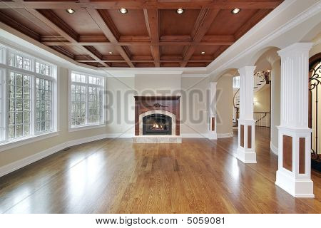 Family Room In Luxury Home