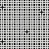 Black and white pattern of intersecting strips, braid, lattice, vector illustration poster