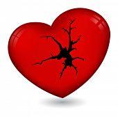 broken heart icon poster