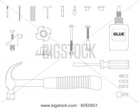 Furniture assembly kit